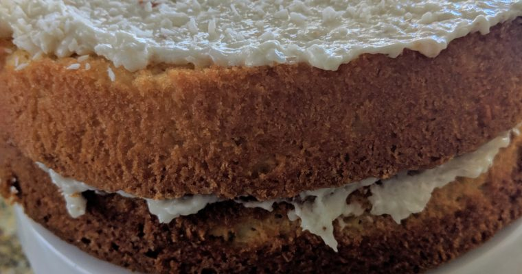 Naked Coconut Cake