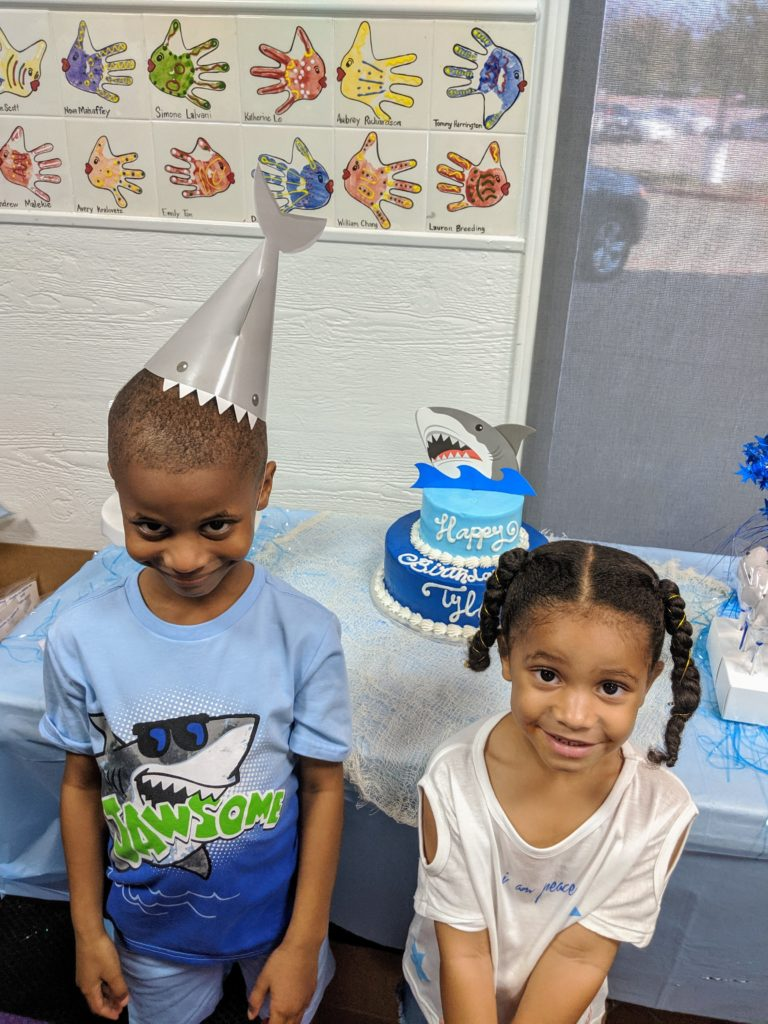 Boys shark theme party