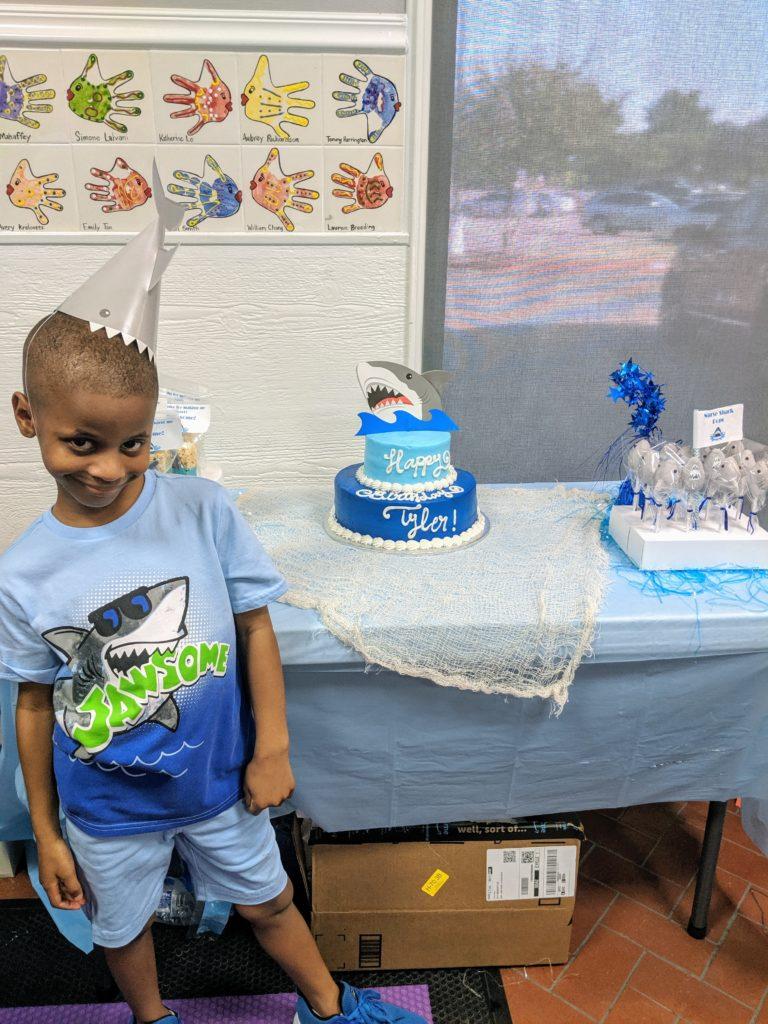 Boys shark theme party