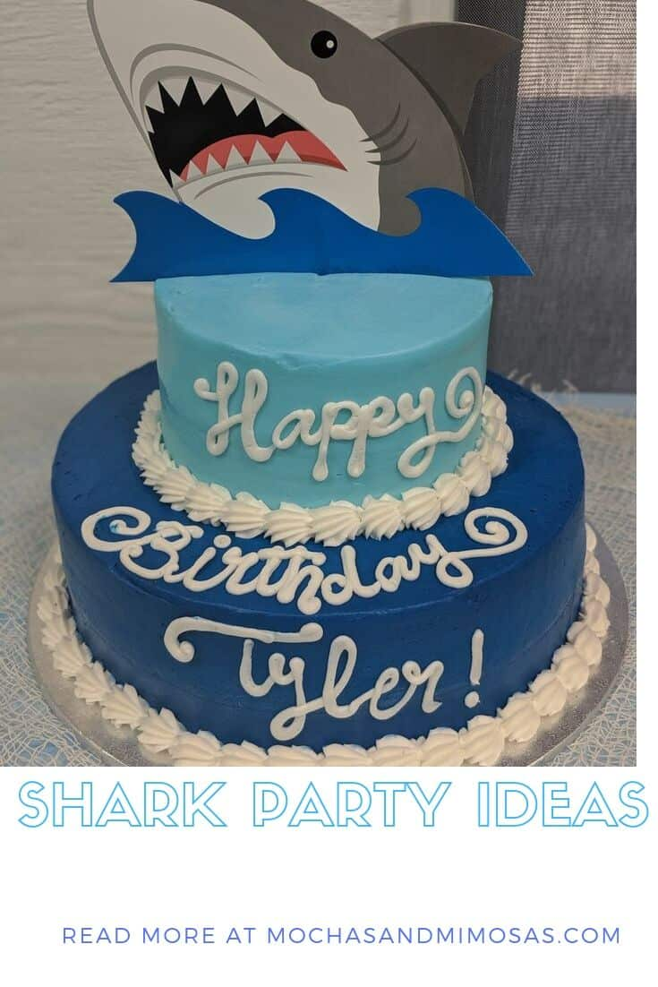 Boys Shark Birthday Party