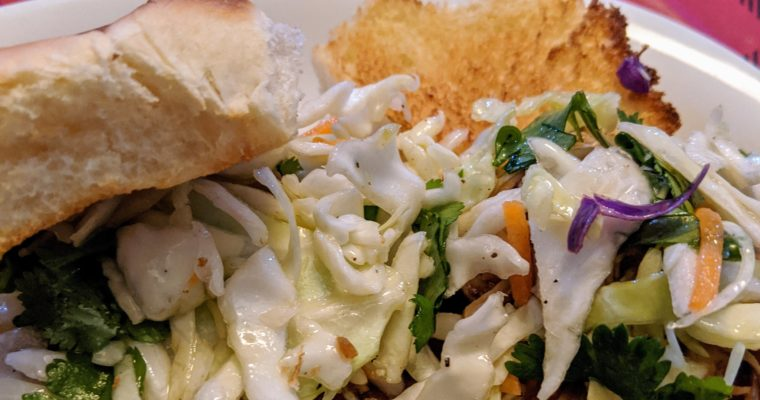 Easy BBQ Chicken Sliders with coleslaw
