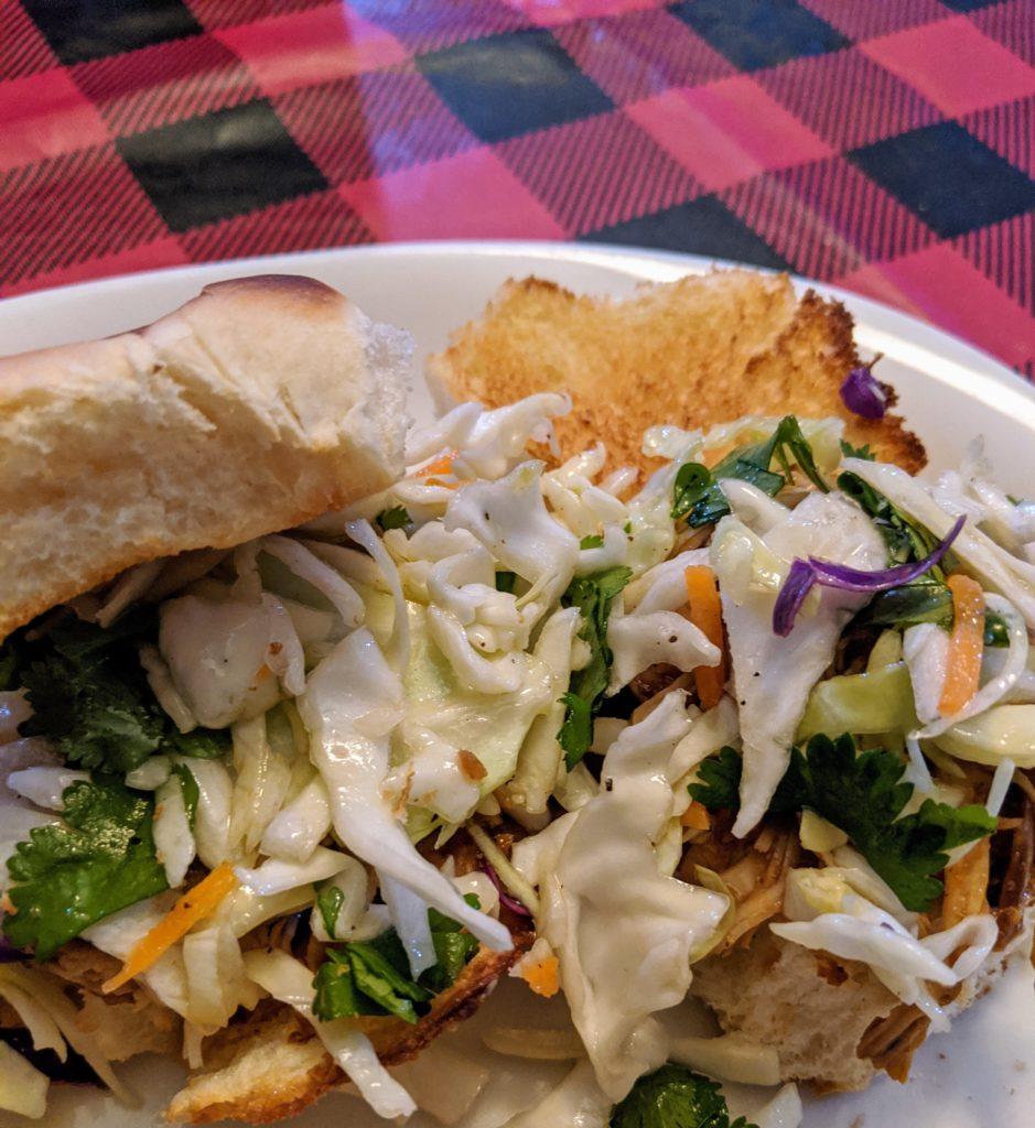 Crock Pot BBQ Chicken Slider with Cilantro Lime Cole Slaw