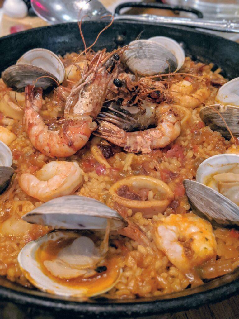 seafood paella at Bulla Gastropub Legacy West