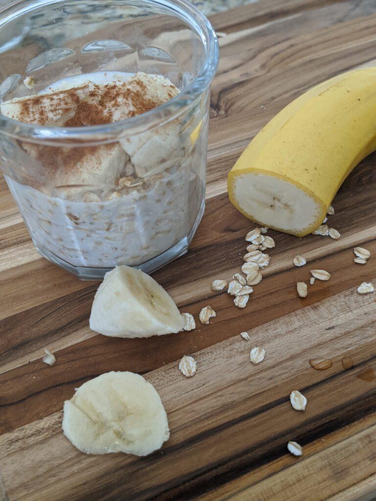 banana nut over night oats
