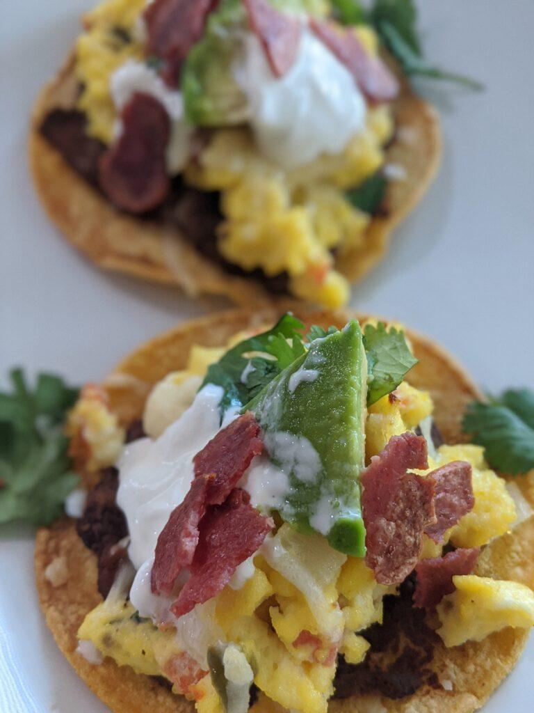 simple breakfast tostadas