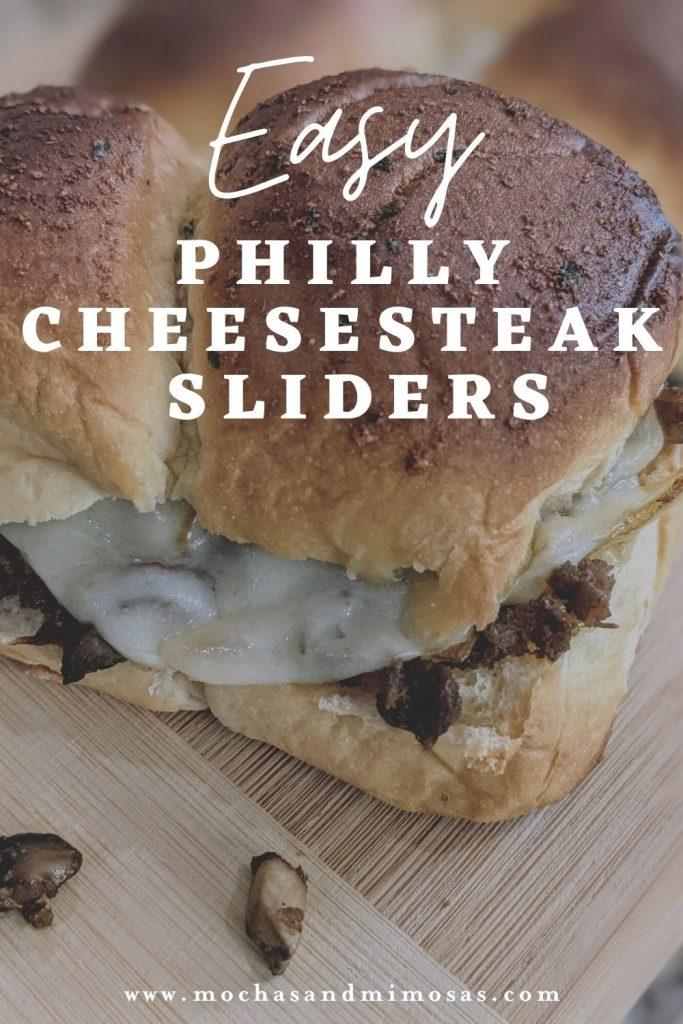 Easy Philly cheesesteak sliders