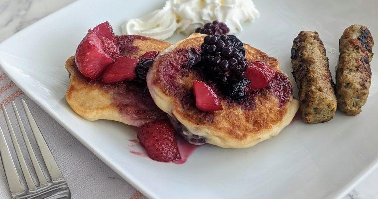 Easy Blackberry Pancakes